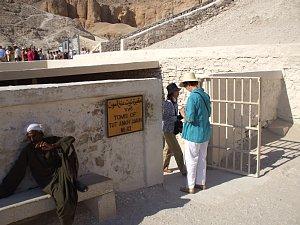 ツタンカーメンの墓。入口。