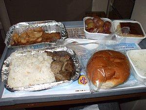 アベラ・エジプト寝台列車の夕食