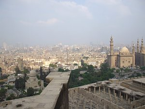 ガーマ・ムハンマド・アリの高台から眺めたカイロ市街
