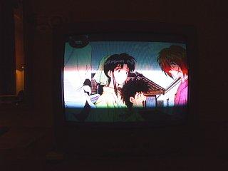 韓国ケーブルテレビで放送中の「るろうに剣心」と思われるアニメ