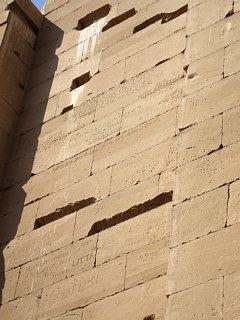カルナック神殿、落書きの壁