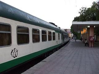 アベラ・エジプト社の寝台列車。エジプト・アスワン駅にて