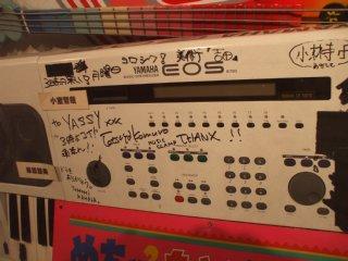フジテレビに展示されているB700。小室と華原のメッセージが