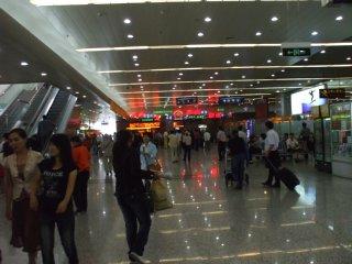 瀋陽桃仙国際空港。到着ロビー