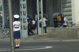 平壌市内の交差点