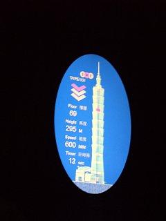 台北101エレベータの電光板