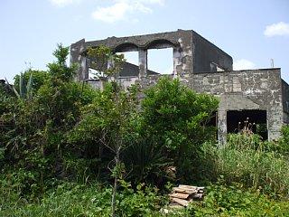 1983年噴火による廃墟