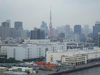 レインボーブリッジから眺めた東京タワー