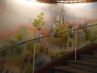 メトロ・Abbesses駅にあった壁画