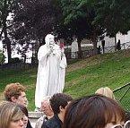 サクレ・クール聖堂前の彫刻パフォーマンス