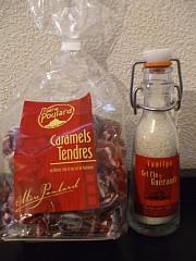メール・プラールの塩バターキャラメルと、ゲランドの塩