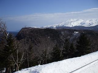 知床岬方面を眺める