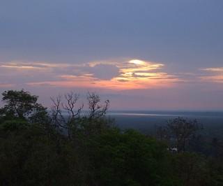 プノン・バケンの夕陽