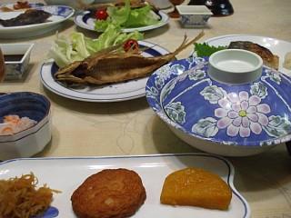 民宿杉の里の夕食