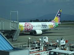 スカイネットアジア航空。700万人搭乗記念の塗装