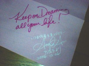 Keep on dreaming all you life!